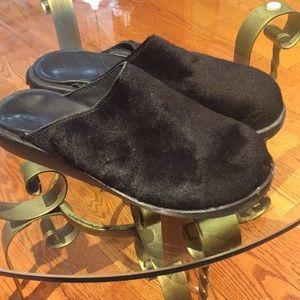 Ralph Lauren fur/woolen clogs 50 years of Lauren
